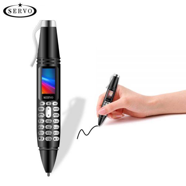 SERVO K07 Pen mini Cellphone 0.96″ Tiny Screen GSM Dual SIM Camera Flashlight Bluetooth Dialer Mobile Phones with Recording pen
