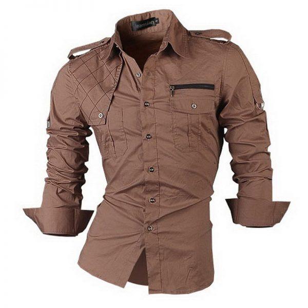 2019 New Fashion Casual slim fit long-sleeved men's dress shirts Korean styles cotton shirt 8371