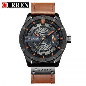 2018 Luxury Brand CURREN Men Military Sports Watches Men's Quartz Date Clock Man Casual Leather Wrist Watch Relogio Masculino