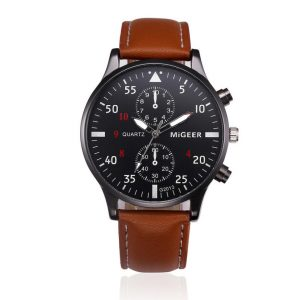 Retro Design Leather Band Watches Men Top Brand Relogio Masculino 2019 NEW Mens Sports Clock Analog Quartz Wrist Watches #Zer