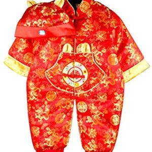 CRB Fashion Baby Newborn Boy Girls Chinese Years Asian Shirt Outfit …