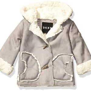 DKNY Baby Girls Fashion Outerwear Jacket, Shearling