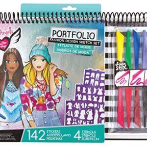 Fashion Angels Fashion Design Sketch Portfolio Artist Set,Multi/None
