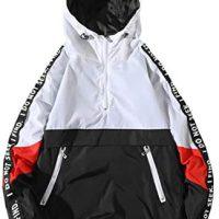 ONTTNO Mens Pullover Hooded Waterproof Lightweight Windbreaker Jackets