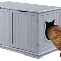 Candy Barks X-Massive Designer Cat Washroom Storage Bench Cat Litter Field Enclosure Furnishings Field Home with Desk