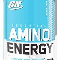 Optimum Vitamin Amino Vitality – Pre Exercise with Inexperienced Tea, BCAA, Amino Acids, Keto Pleasant, Inexperienced Espresso Extract, Vitality Powder – Cotton Sweet, 30 Servings