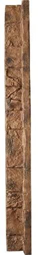 "Ekena Millwork PNUIC03X48CB Common Inside Nook for Stonewall Fake Stone Siding Panels, three"" W x three"" D x 48″ H, Canyon Brown"
