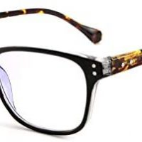 FEISEDY Womens Rectangular Studying Glasses Traditional Design Spring Hinge Readers B2555
