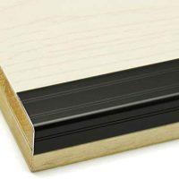 GWXFHT Constructing Merchandise Threshold Edge Trim Ornamental Strip Metallic Proper Angle L-Formed Flooring Batten Waterproof Non-Slip Marble Flooring Edge Banding W31L900MM (Shade : Black)