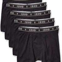 IZOD Males's 5 Pack Cotton Boxer Transient