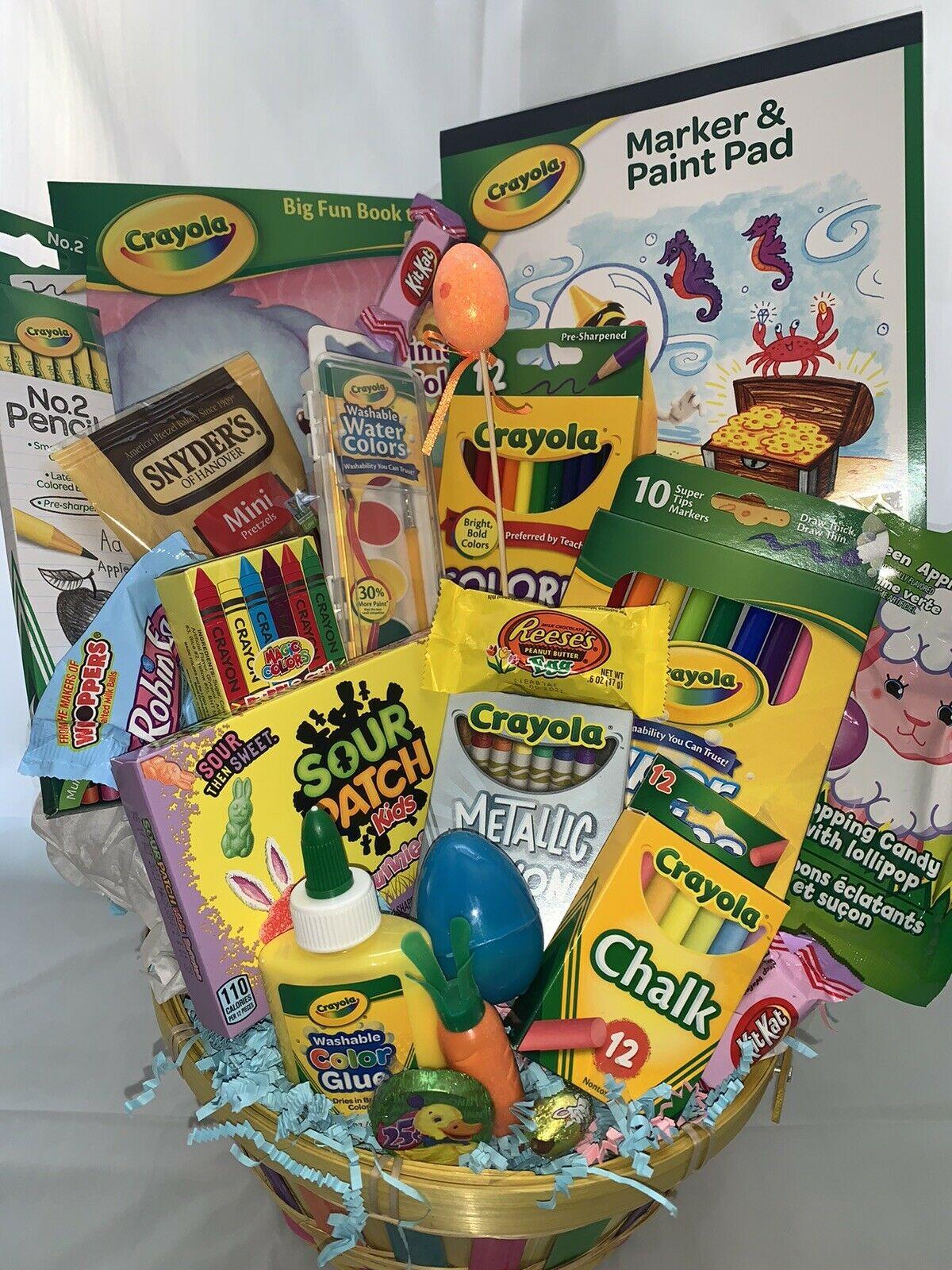 Massive Children Present Basket🌞Boy Woman🌞Crammed w/a ton of ART SUPPLIES Birthday