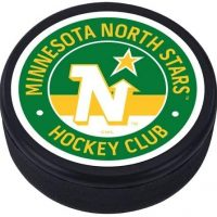 Mustang Minnesota North Stars 3D Textured Classic Memento Hockey Puck