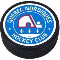 Mustang Quebec Nordiques 3D Textured Classic Memento Hockey Puck
