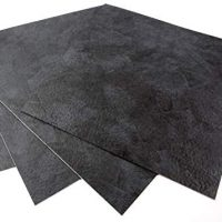 ROSEROSA Peel and Stick Engineered PVC Tiles Stone Concrete Sample Sturdy Vinyl Flooring (ECK-206 : Sq. four Tiles)