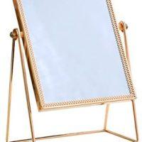 Sq. Mirror/HD Vainness Mirror/Beauty Mirror,Multifunction Steel Bed room Desktop Mirror