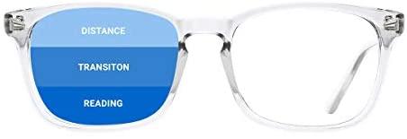 TIJN Classic Sq. Progressive Multifocus Studying Glasses Anti Blue Gentle for Ladies Males Nerd Eyeglasses Readers