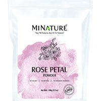 mi nature Rose petal powder | 100g( three.5 oz) | Rose petal powder fir skincare | Facial masks | Face pack | No added Preservatives