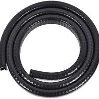 "uxcell Edge Trim U Seal Extrusion Black U Channel Edge Protector PVC Plastic W Iron Sheet Suits three/32""-7/32"" Edge three.3Ft/1M Size"
